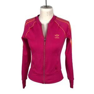 Adidas Originals Pink Full Zip Track Jacket XS